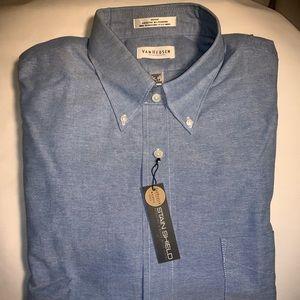 NWT Van Heusen Oxford Dress Shirt 18.5 36/37